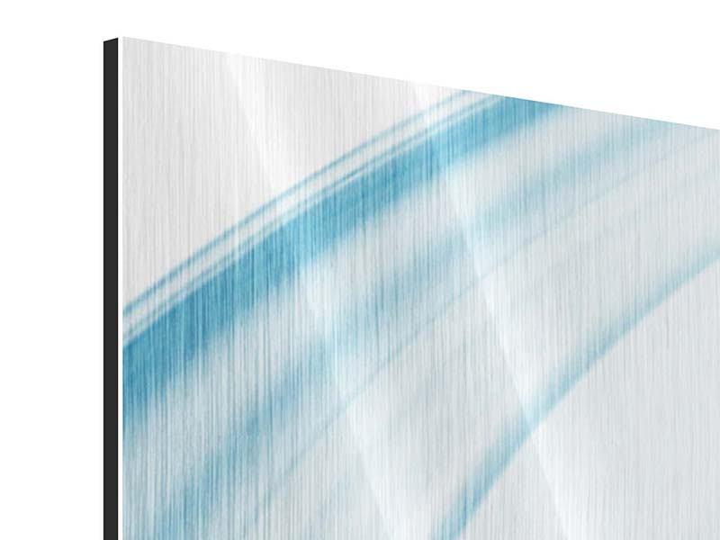 Metallic-Bild 4-teilig modern Abstraktes Glas