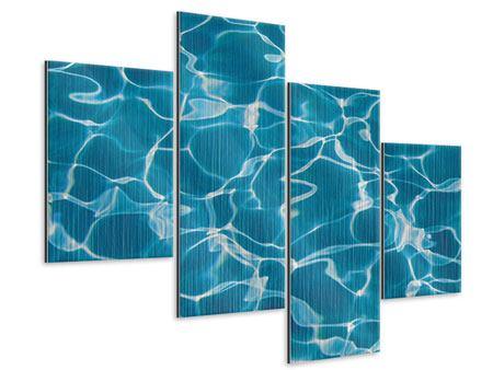 Metallic-Bild 4-teilig modern Pool