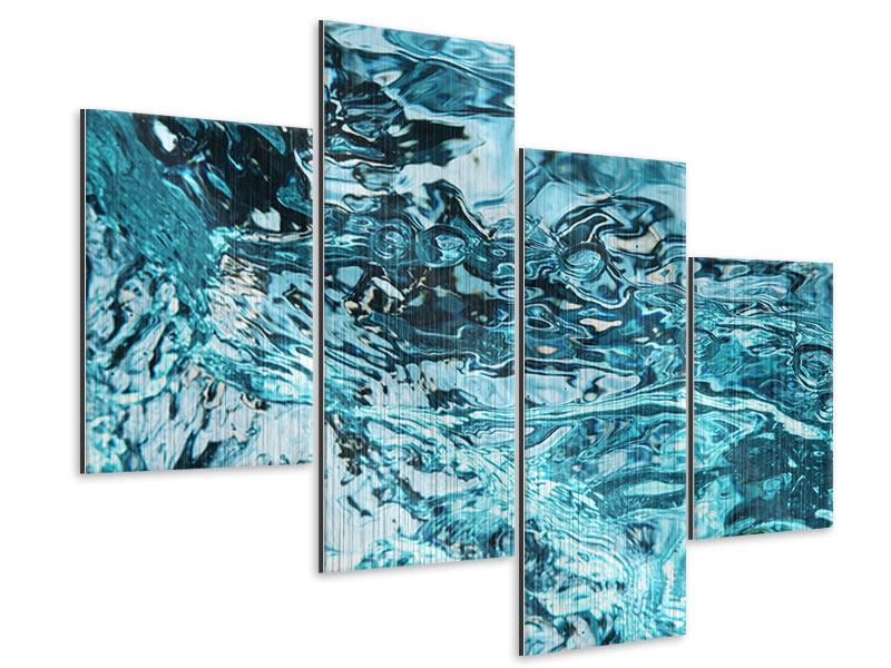 Metallic-Bild 4-teilig modern Schönheit Wasser