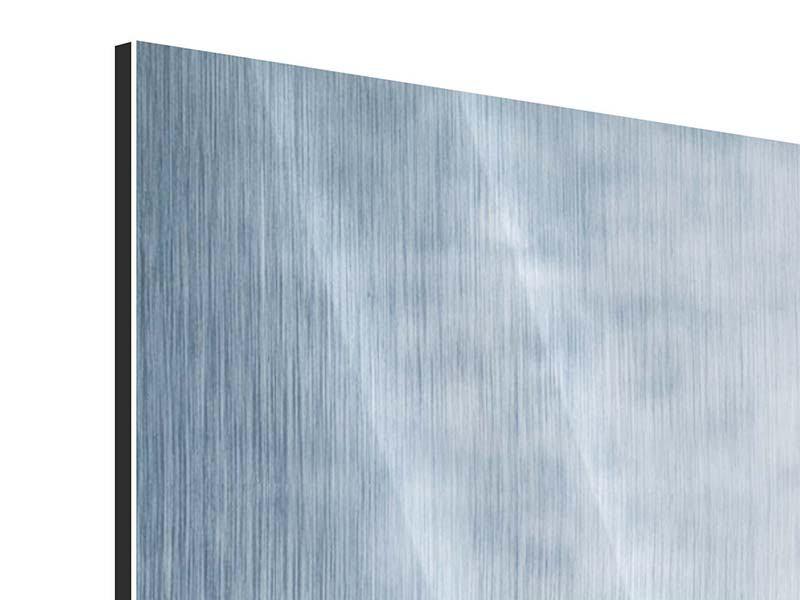 Metallic-Bild 4-teilig modern Wasserdynamik