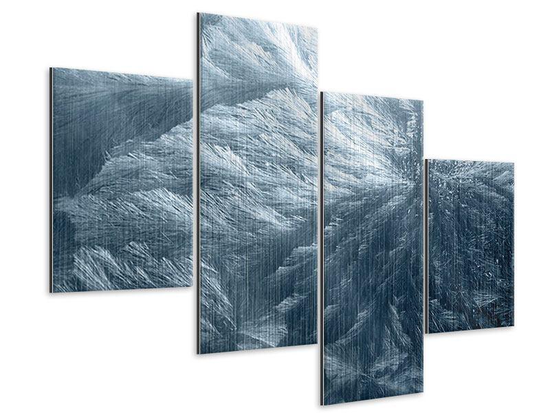 Metallic-Bild 4-teilig modern Eis