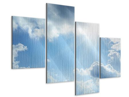 Metallic-Bild 4-teilig modern Himmelshoffnung