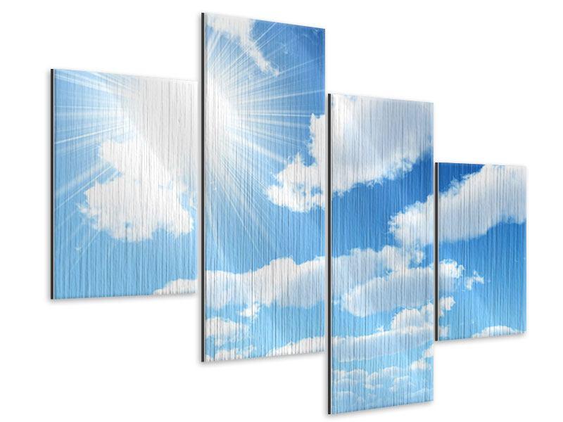 Metallic-Bild 4-teilig modern Am Himmel
