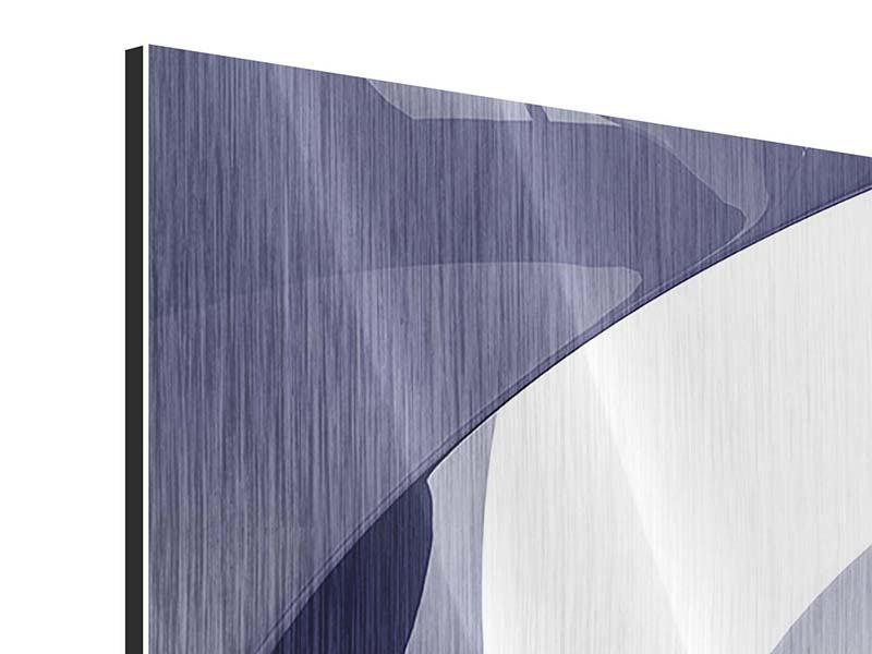 Metallic-Bild 4-teilig modern Abstrakte Schwingungen