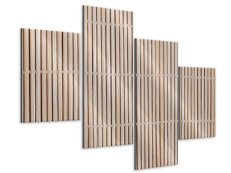 Metallic-Bild 4-teilig modern Lucky Bamboo