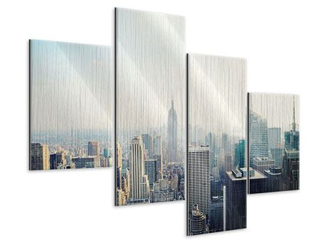 Metallic-Bild 4-teilig modern NYC