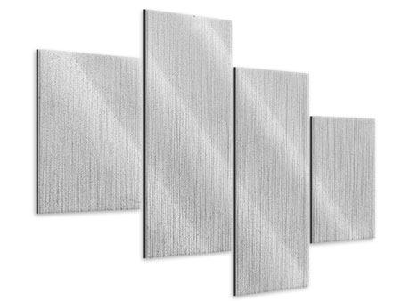 Metallic-Bild 4-teilig modern Beton in Hellgrau