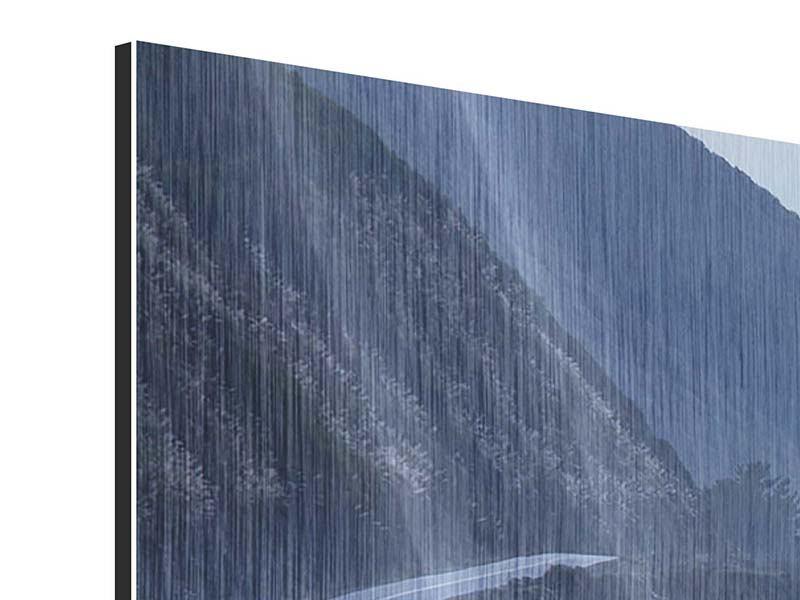 Metallic-Bild 4-teilig modern Bewegung im Wasser