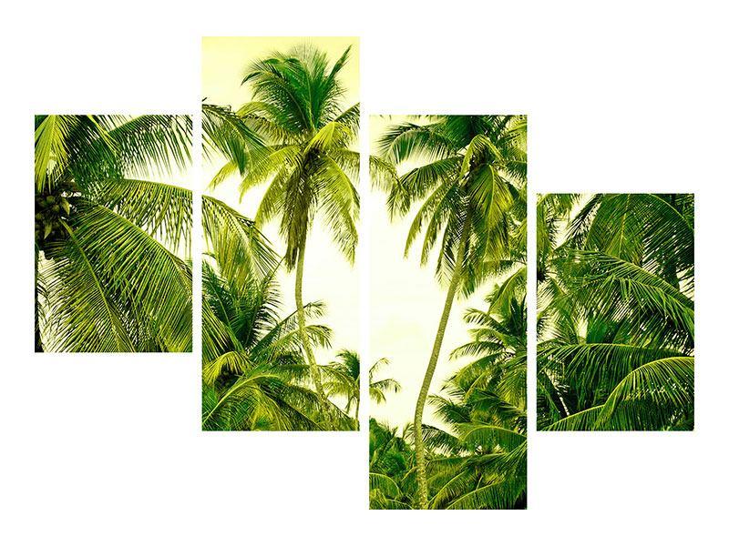 Metallic-Bild 4-teilig modern Reif für die Insel