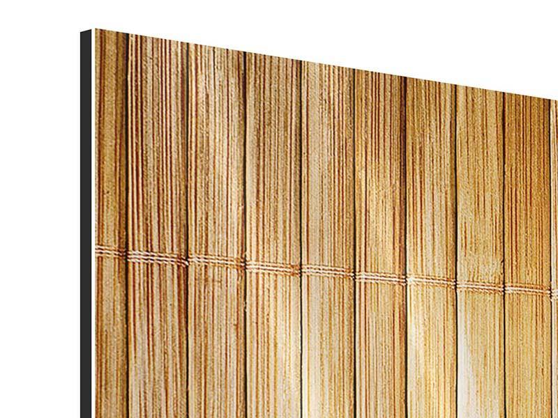 Metallic-Bild 4-teilig modern Bambusrohre