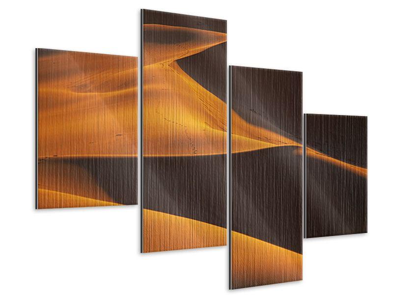Metallic-Bild 4-teilig modern Wüstensand