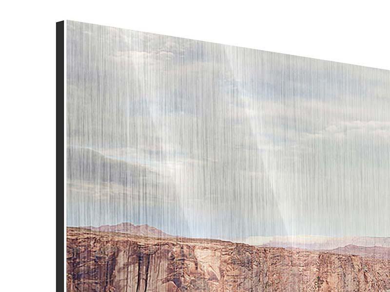 Metallic-Bild 4-teilig modern Horseshoe Bend