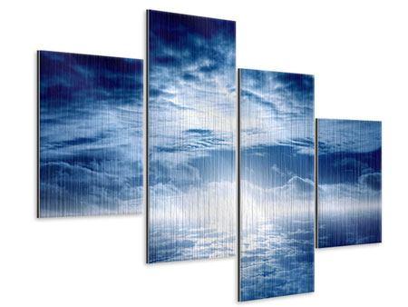 Metallic-Bild 4-teilig modern Mystischer Himmel