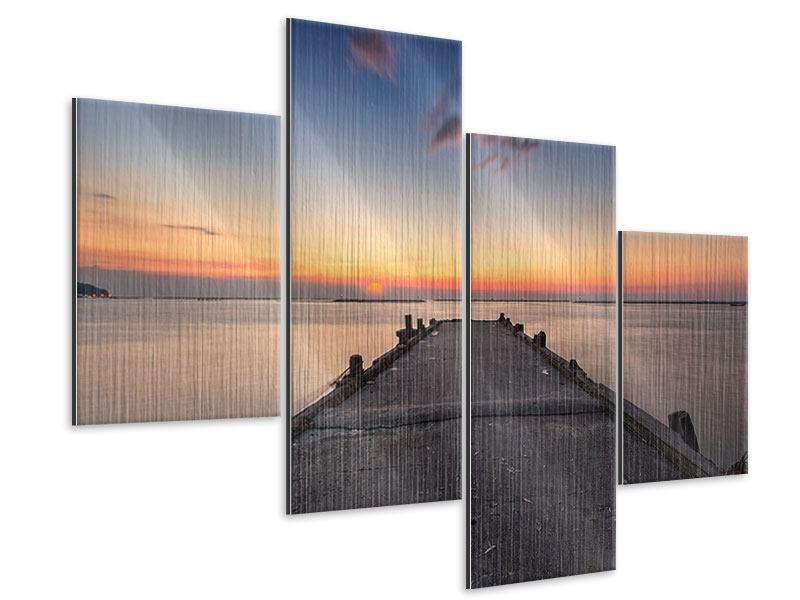 Metallic-Bild 4-teilig modern Der Steg