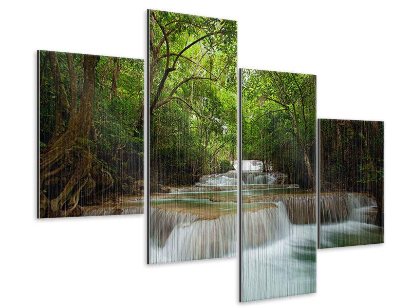 Metallic-Bild 4-teilig modern Die 7 Stufen