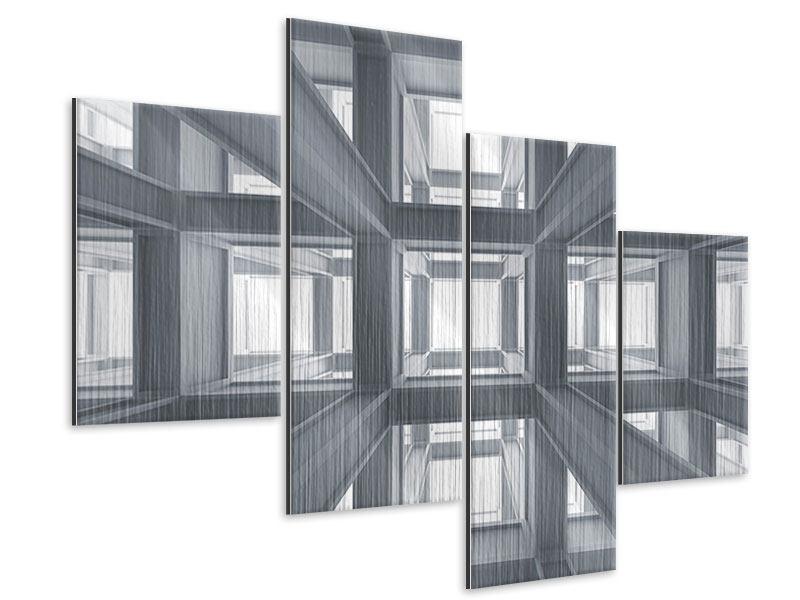 Metallic-Bild 4-teilig modern Räume