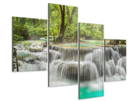 Metallic-Bild 4-teilig modern Erawan