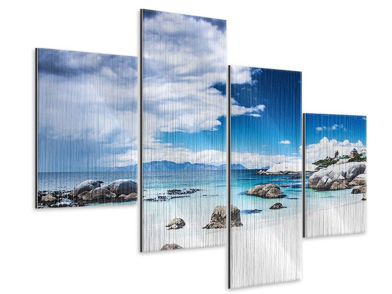 Metallic-Bild 4-teilig modern Inselfeeling
