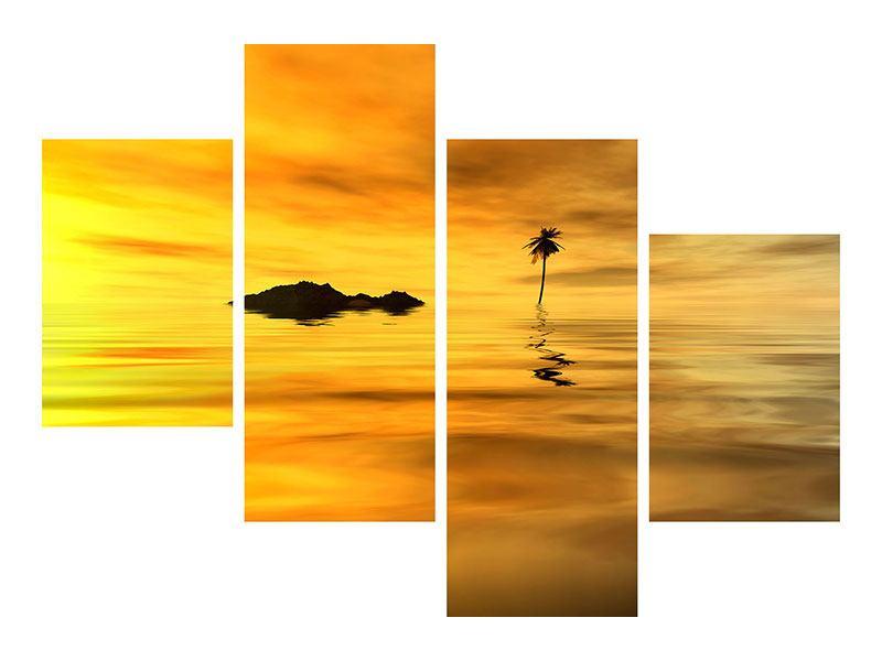 Metallic-Bild 4-teilig modern Ab auf die Insel
