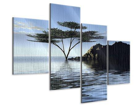 Metallic-Bild 4-teilig modern Naturfaszination
