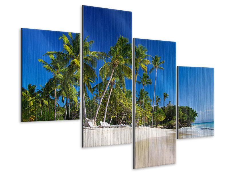 Metallic-Bild 4-teilig modern Aloha