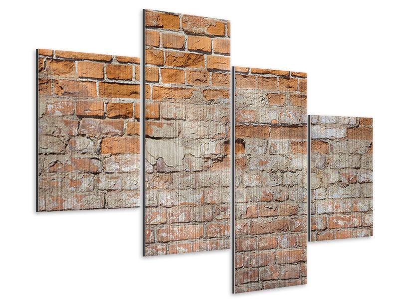 Metallic-Bild 4-teilig modern Alte Klagemauer