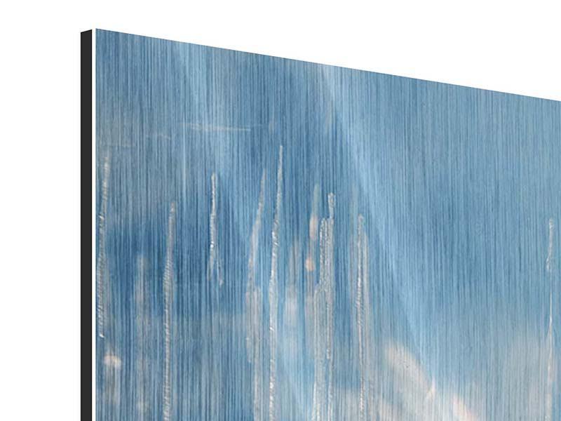 Metallic-Bild 4-teilig modern Das Eis des Baikalsees