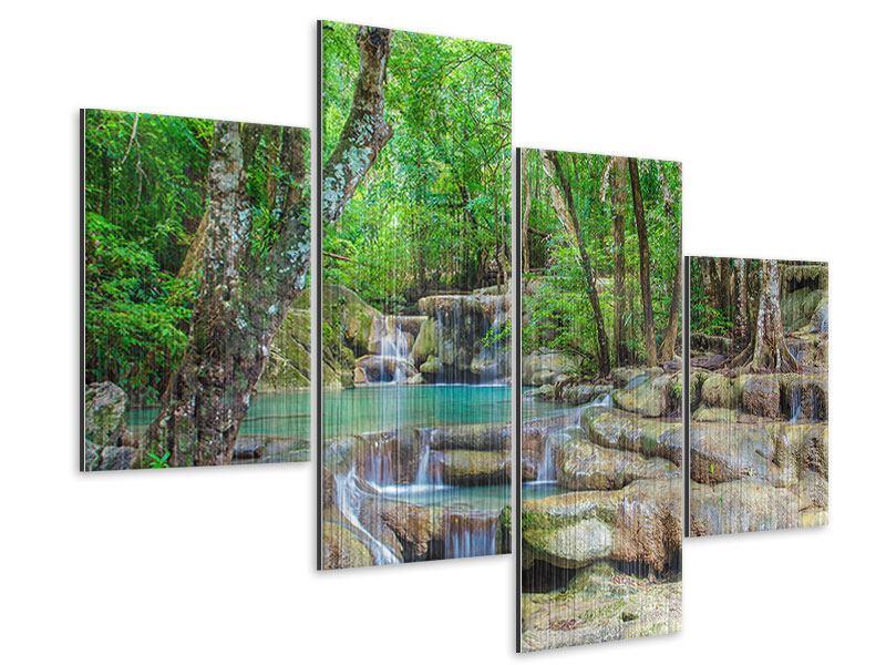 Metallic-Bild 4-teilig modern Wasserspektakel
