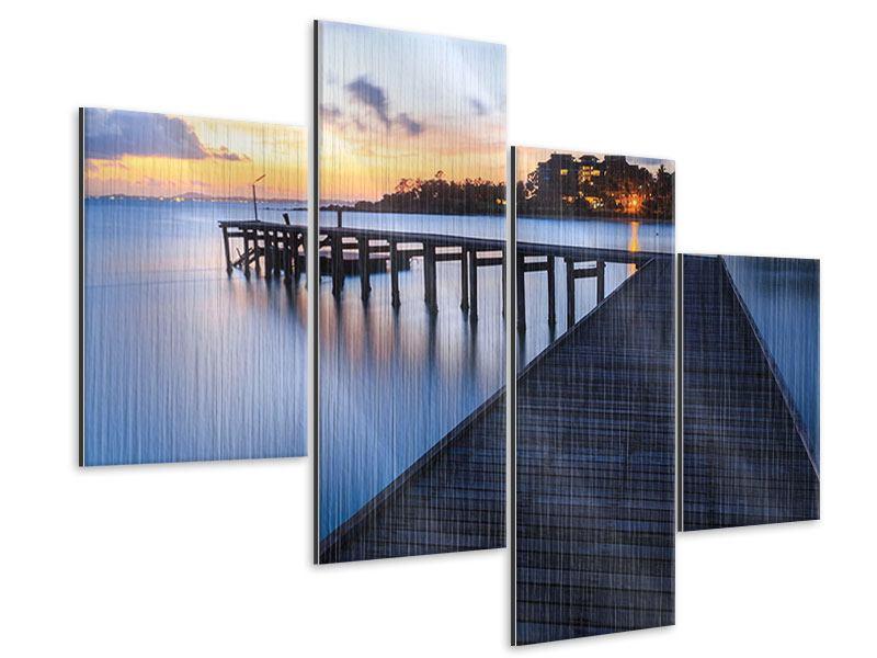 Metallic-Bild 4-teilig modern Inseltraum