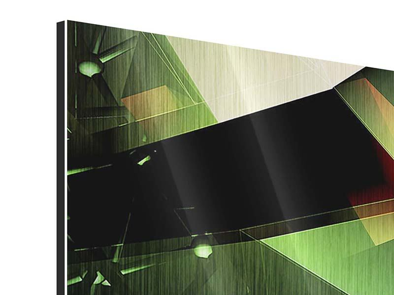 Metallic-Bild 4-teilig modern 3D-Polygon