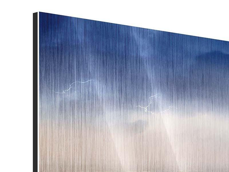 Metallic-Bild 4-teilig modern Manhattan
