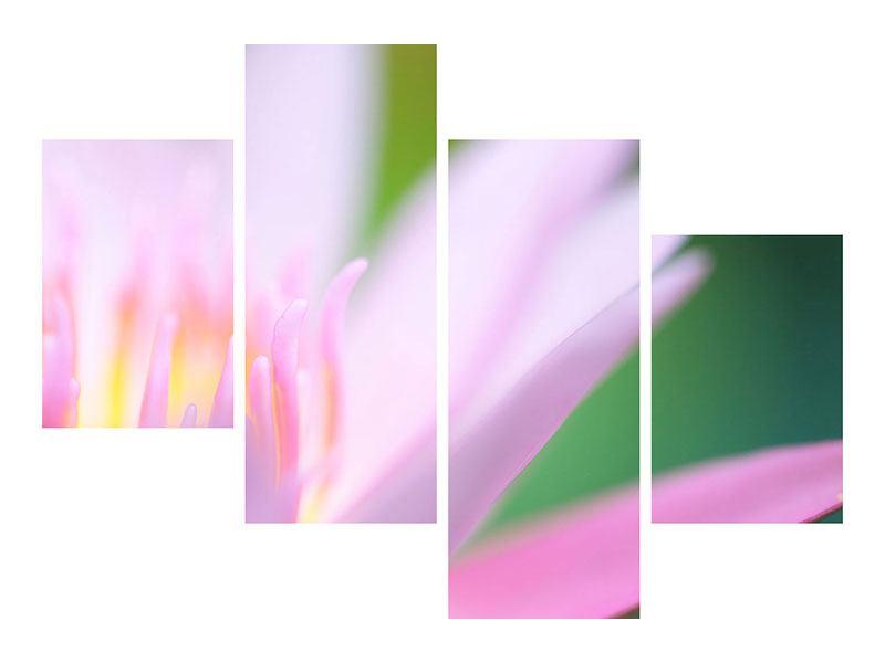 Metallic-Bild 4-teilig modern XXL-Lilie