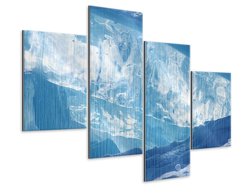 Metallic-Bild 4-teilig modern Baikalsee-Eis