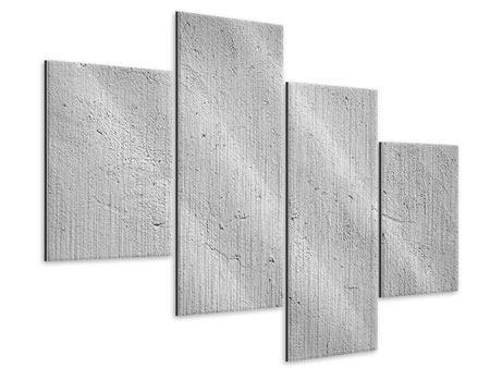 Metallic-Bild 4-teilig modern Beton