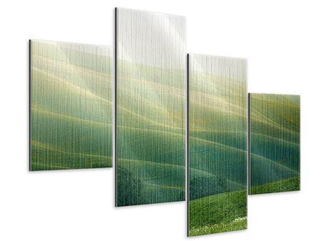 Metallic-Bild 4-teilig modern Toskana