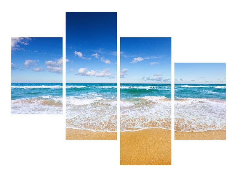 Metallic-Bild 4-teilig modern Die Gezeiten und das Meer