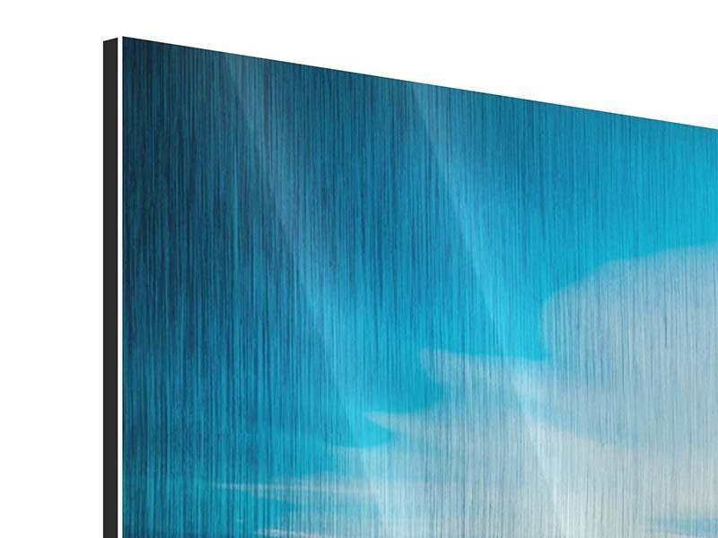 Metallic-Bild 4-teilig modern Brückenimpression
