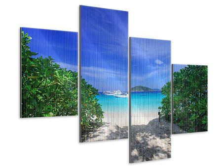 Metallic-Bild 4-teilig modern Similan-Inseln