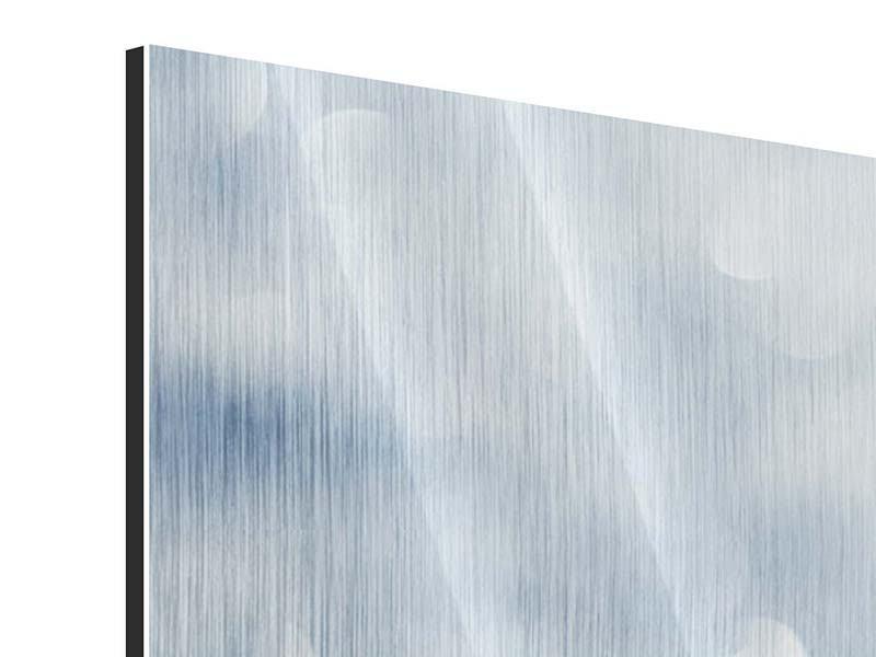 Metallic-Bild 4-teilig modern Kristallglanz