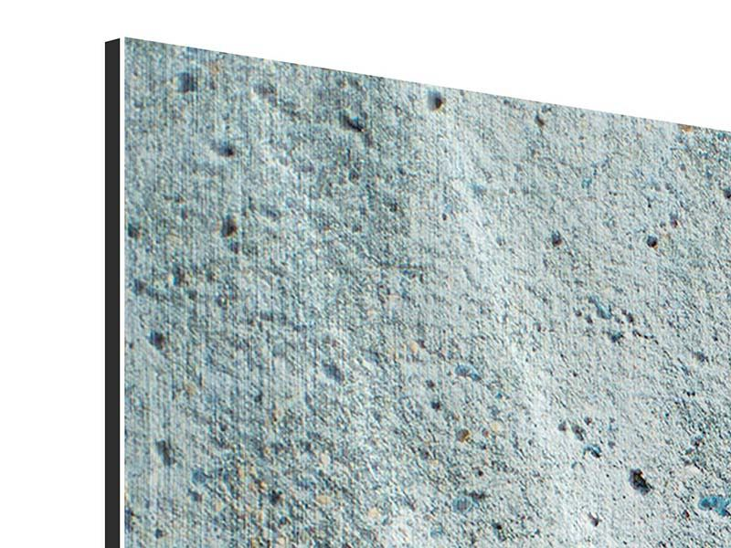 Metallic-Bild 4-teilig modern Beton in Grau