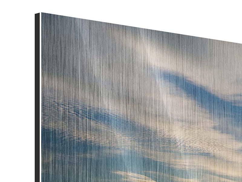 Metallic-Bild 4-teilig modern Meerwasser