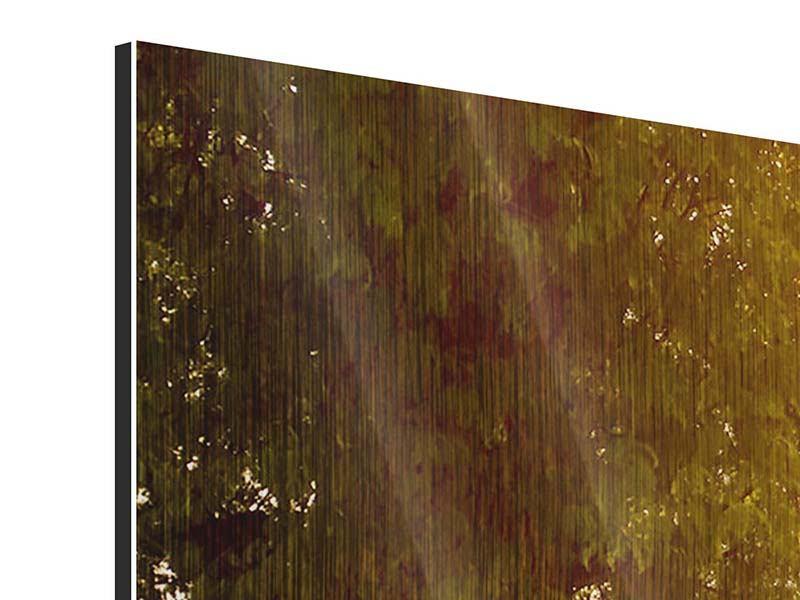 Metallic-Bild 4-teilig modern Romantik unter Bäumen