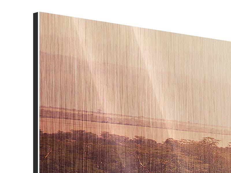Metallic-Bild 4-teilig modern Malerisches Afrika