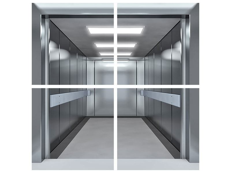 Metallic-Bild 4-teilig Aufzug