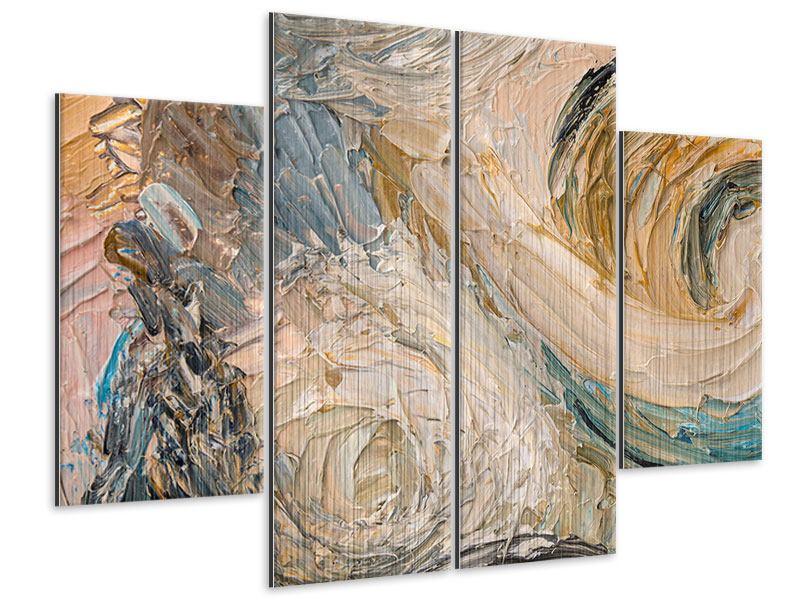 Metallic-Bild 4-teilig Ölgemälde