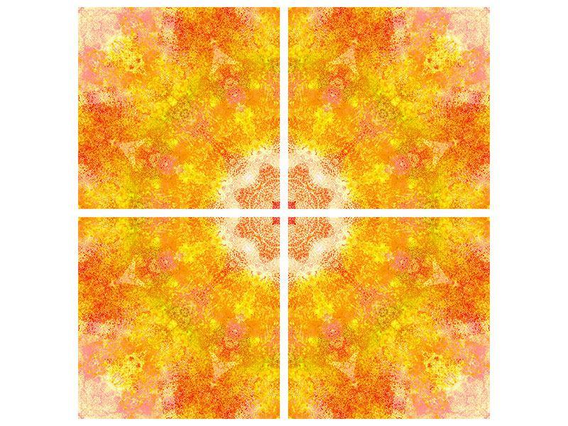 Metallic-Bild 4-teilig Star
