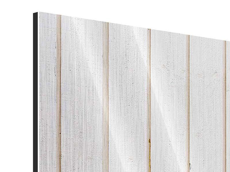 Metallic-Bild 4-teilig Mediterranes Holz