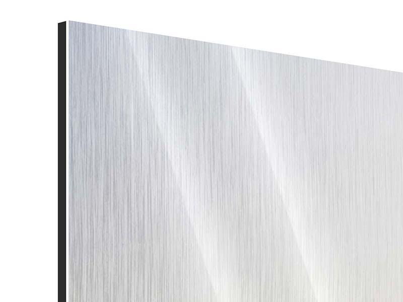Metallic-Bild 4-teilig Rennstrecke