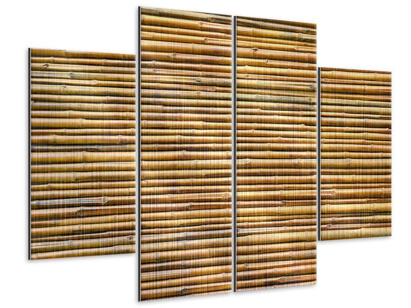 Metallic-Bild 4-teilig Bambus
