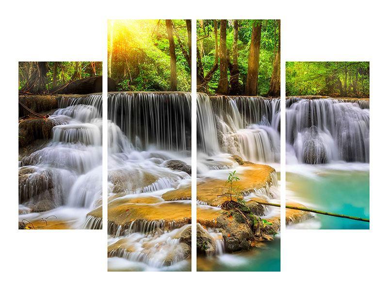 Metallic-Bild 4-teilig Nationalpark Si Nakharin